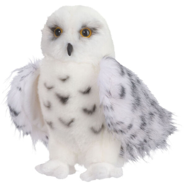 Douglas Wizard Snowy Owl Plush Stuffed Animal Toy 8quot; White Hedwig Child Cuddle