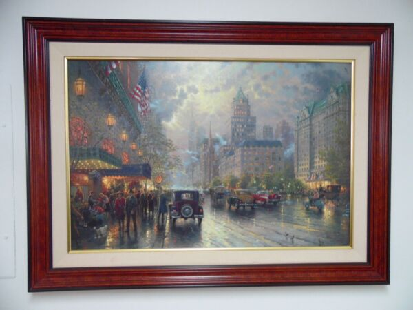 Thomas Kinkade New York 5th Ave LE Studio Proof on Canvas 24quot; x 36quot; #32 of 140 $3799.99