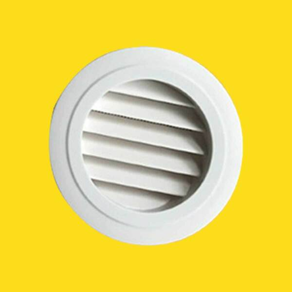 ABS Plastic Circle Air Vent Grill Cover Ducting Ventilation Wall Ceiling Supply