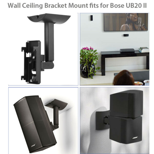 Wall Ceiling Bracket Clamping Mount for Bose UB20 Series 2 II Speaker Surround $16.48