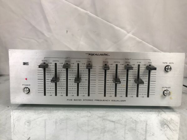 REALISTIC FIVE BAND STEREO FREQUENCY EQUALIZER MODEL 31-1988A Eq Vintage Antique
