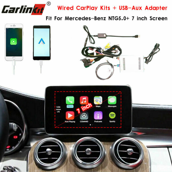 Carlinkit Fit For Mercedes-Benz Wired CarPlay Android Auto Upgrade Retrofit Kits