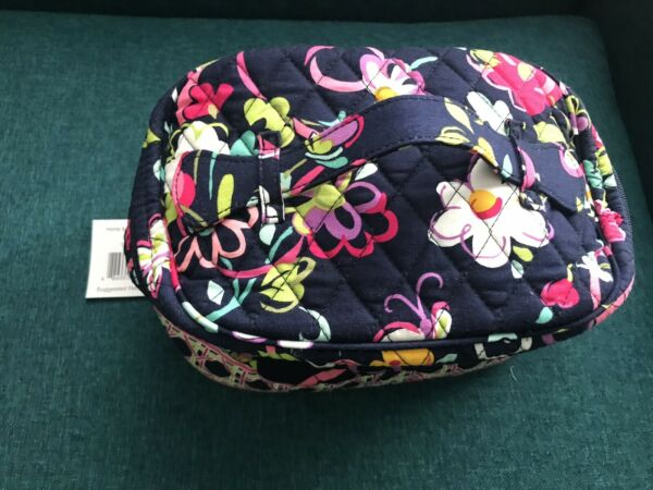 New Vera Bradley Home And Way Cosmetic Bag In Ribbons