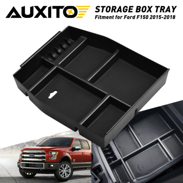 For Ford 2015-2018 F 150 Large capacity Center Console Storage Organizer Tray
