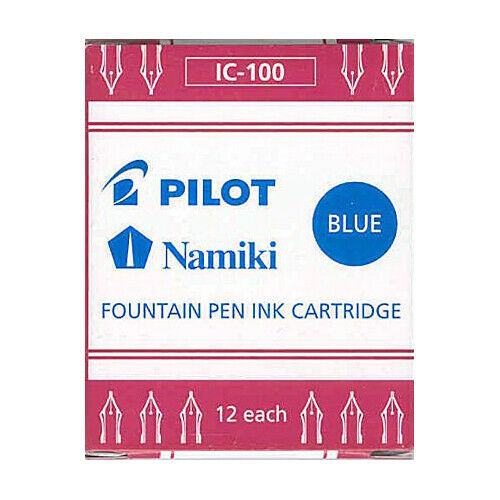 Namiki Pilot Fountain Pen Ink Cartridges 12 pk Blue