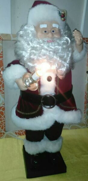 33quot; Telco Motion ette Xmas Lighted Animated Musical Santa LARGE $48.40