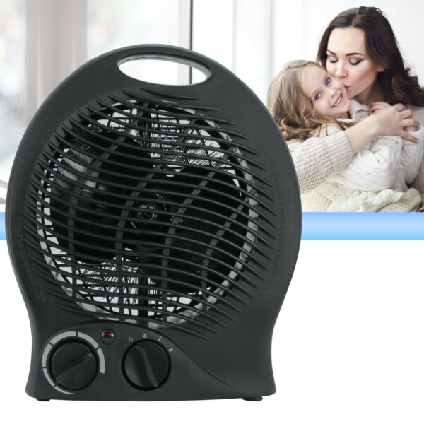 Portable Electric Space Heater 3 Settings 1500w Fan Forced Adjustable Thermostat