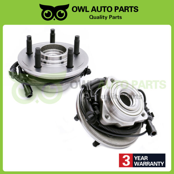 515078 X2 Front Wheel Bearing & Hub For 06-10 Ford Explorer Mercury Mountaineer