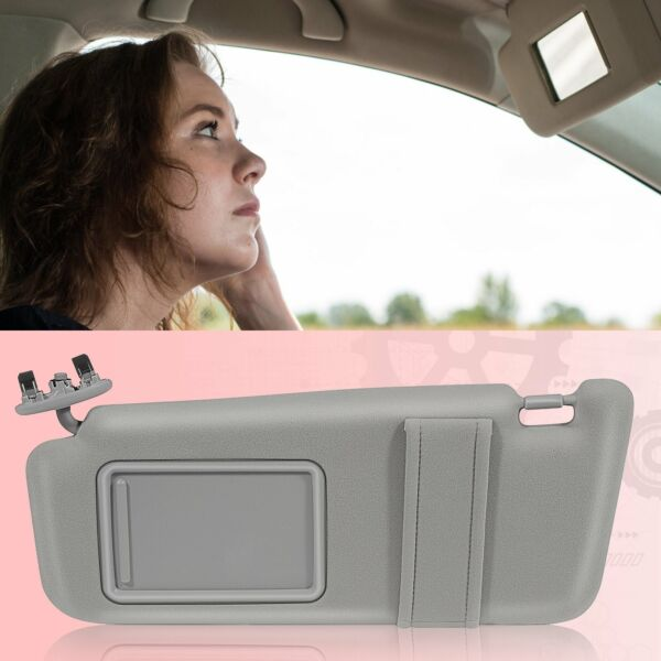 SUN VISOR LEFT DRIVER SIDE GRAY for 2007-2011 Toyota Camry WITHOUT SUNROOF NEW $26.49