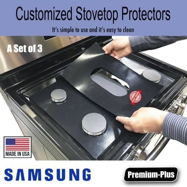 Samsung Stove Protectors Custom cut to fit your Stove Lifetime Warranty