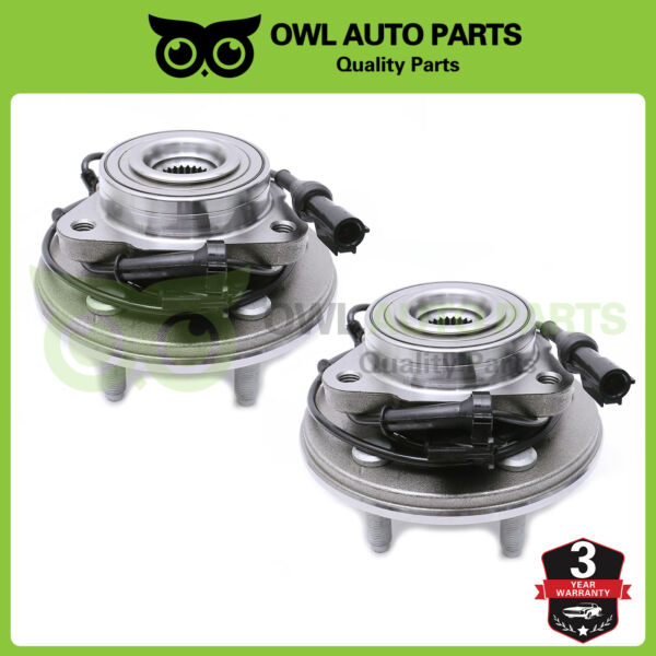 Wheel Hubs & Bearings Assembly Front Pair For 06-10 Mountaineer Explorer 515078
