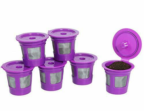 Cafe Save 6Pk Reusable Refillable Coffee Pod Kcup K Cup for Keurig Mini Plus Duo