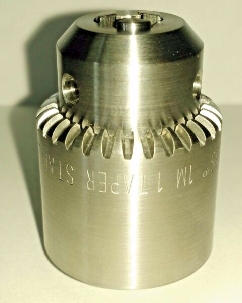 Jacobs 33338 1M 1 Taper Stainless Drill Chuck 1.1mm to 7.4mm Capacity