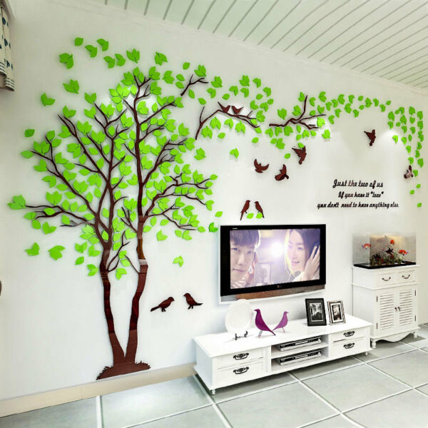 3D-Flower Tree Home Room Art Decor DIY Wall Sticker Removable Decal Vinyl Mural