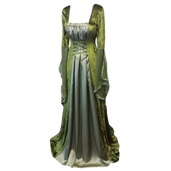 Medieval Princess Ball Gown Womens Renaissance Maxi Dress Wedding Dress Cosplay