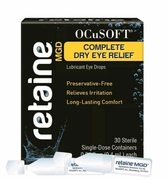 RETAINE by OCuSOFT MGD LUBRICANT EYEDROPS (30 SINGLE DOSE VIALS) (EXP. 052022)