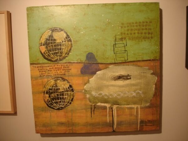 squeak carnwath enough 2000 24 X 24 original signed oil painting on linen