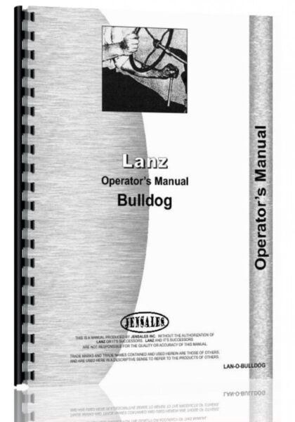 Lanz Bull Dog Tractor Owners Operators Manual Diesel $14.99