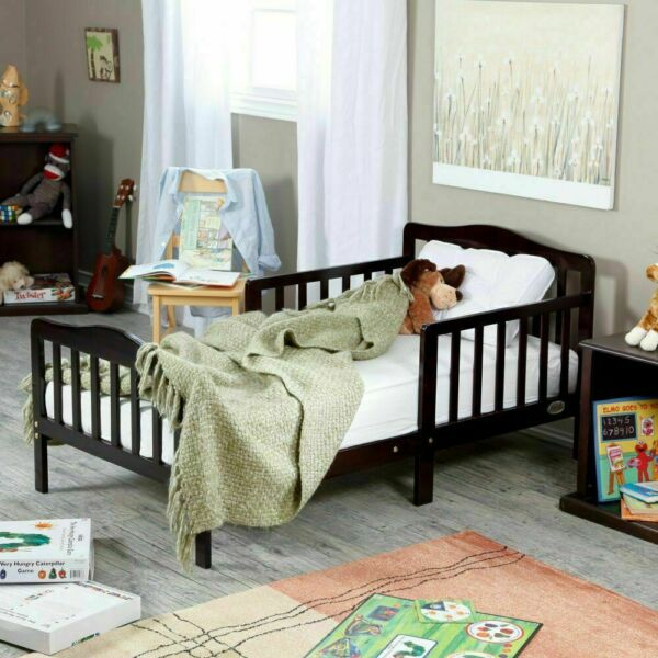 Baby Toddler Beds with Rails Kids Bedroom Wood Furniture Baby Relax Beds