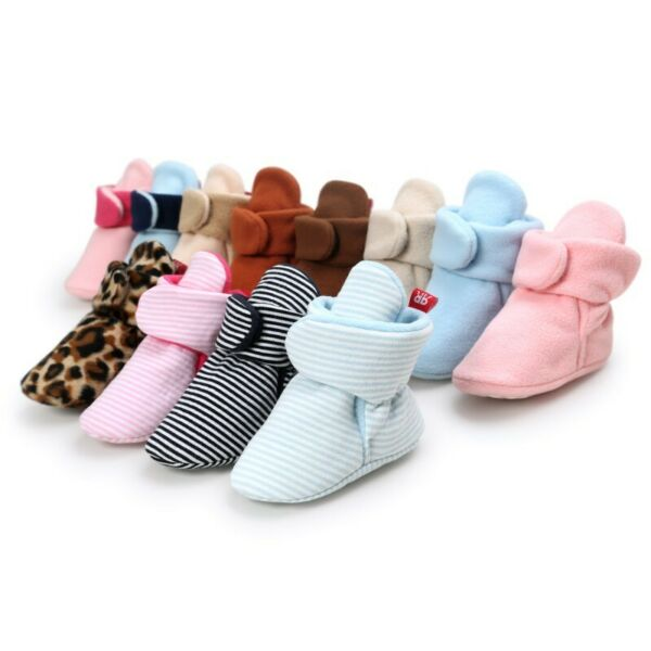 Newborn Baby Warm Crib Shoes Booties Infant Boy Girl Boots Prwalker 0-18M Winter