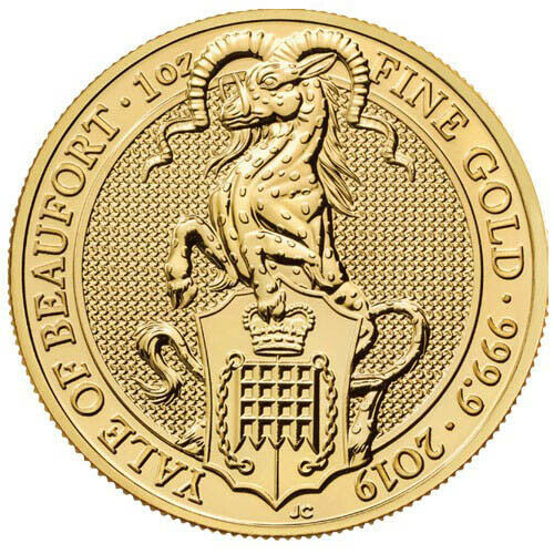 2019 1 oz British Gold Queen's Beast Yale of Beaufort Coin (BU)