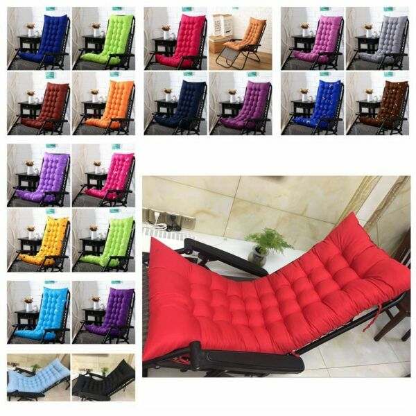 Sold Outdoor Soft Chair Cushion Tufted Deck Chaise Padding Patio Pool Recline