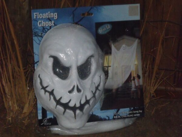 HALLOWEEN HAUNTED HOUSE HANGING FLOATING GHOST PROP OUTDOOR DECORATION 6 FEET 72