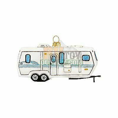 Travel Trailer 5quot; Glass Christmas Tree Ornament $20.49