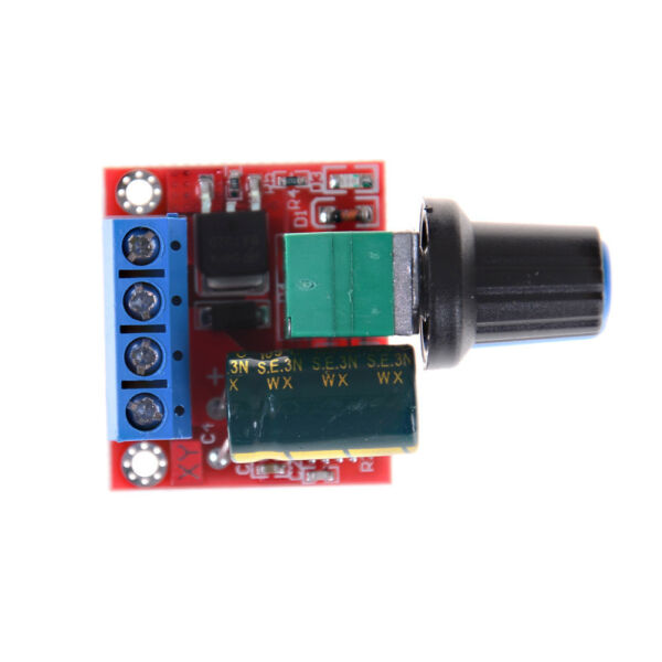 Mini DC Motor PWM Speed Controller 5A 4.5V-35V Speed Control Switch LED Dimme CE