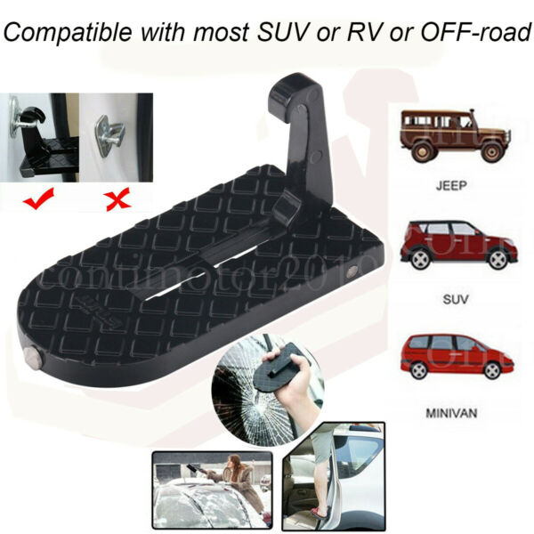 Multifunction Car Doorstep Door Latch Hook Pedals Folding Step Foot Pedal Ladder $9.90