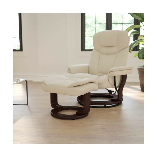 Flash Furniture Recliner Chair Swivel Seat Ottoman Beige Upholstery BT7821BGEGG $416.68