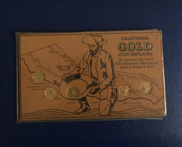 Vintage California Gold Coin Replicas