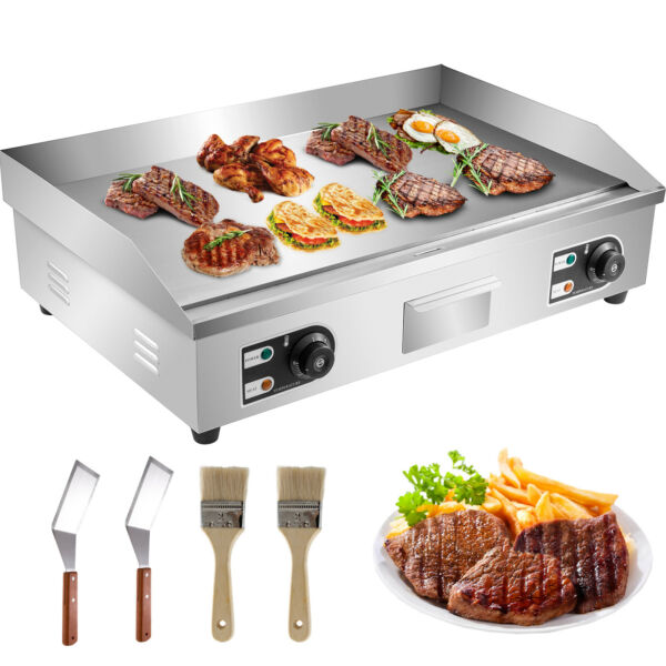 4400W 30quot; Commercial Electric Countertop Griddle Flat Top Grill Hot Plate BBQ