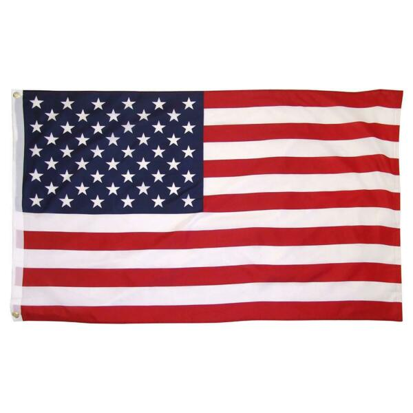 USA AMERICAN FLAG BANNER 4'X6' HUGE SIZE OUTDOOR QUALITY ROUGH TEX NYLON FLAGS