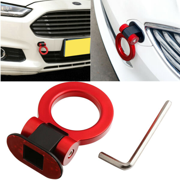 Universal Sporty Red Ring Track Racing Style Tow Hook For Car Truck Decoration
