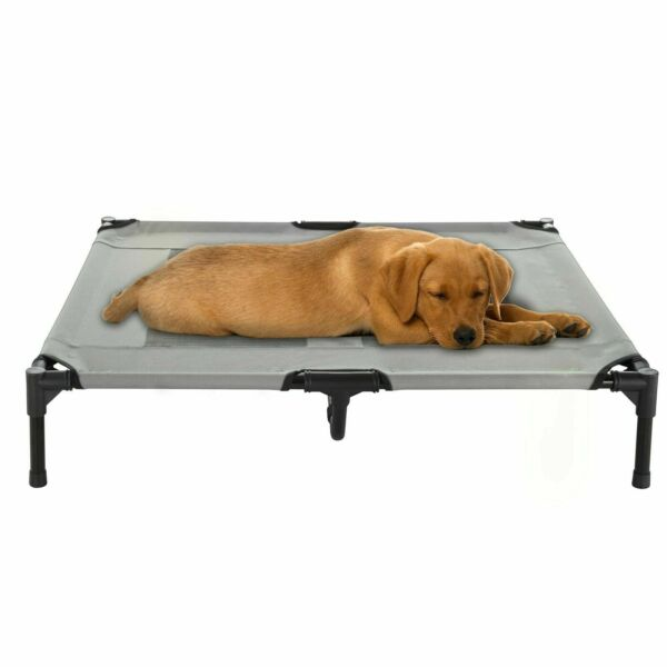 Med Large Dog Bed Indoor Outdoor Raised Elevated Cot and Travel Case 36 x 29 In $28.99