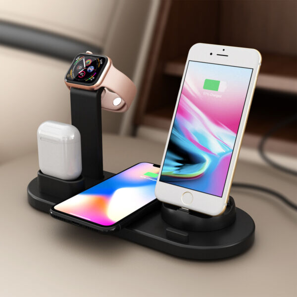 3 in 1 Charging Dock Charger Stand For Apple Watch SeriesAirPods iPhone Station