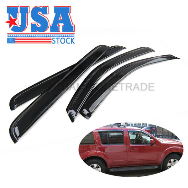 US Smoke Window Sun Rain Visor Vent Deflector Guard Fit Nissan Pathfinder 05-12