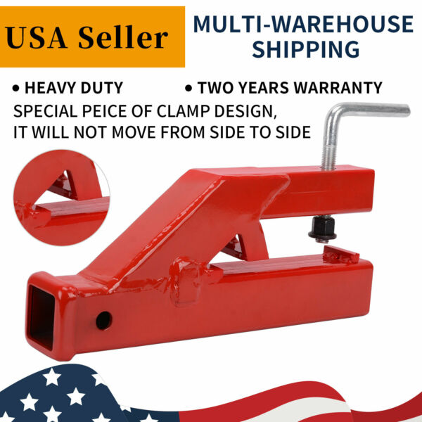 Receiver Hitch 2quot; Clamp On Trailer Tractor Bucket Mount Adapter for Deere Bobcat $55.67