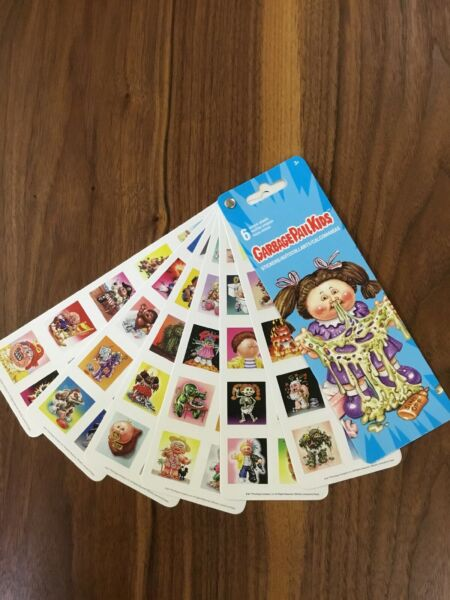 2019 Topps Garbage Pail Kids Stickers 6 Unique Sheets Free Shipping Lower 48