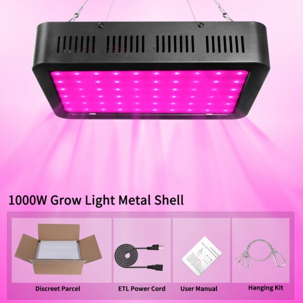 1000W LED Grow Light Growing Lamp Full Spectrum for Indoor Plant Hydroponic $44.69