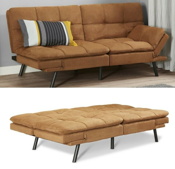 Memory Foam Futon Sofa Bed Couch Sleeper Convertible Foldable Loveseat FULL Size