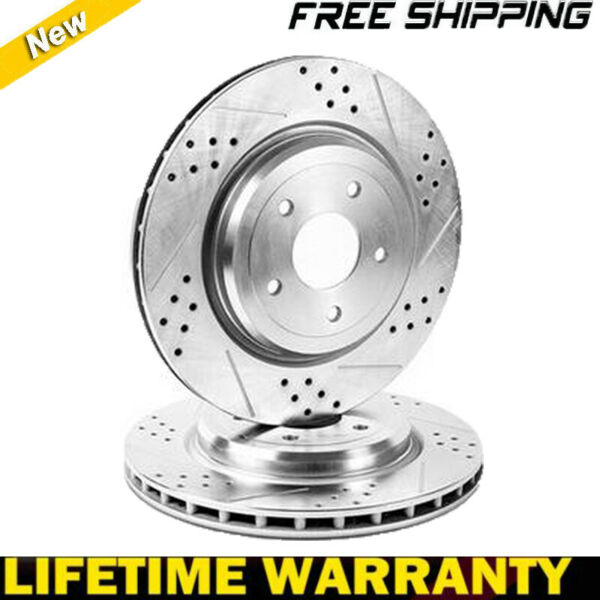 Rear Brake Disc Rotors And Ceramic Pads for 2004 05 06 07 08 09 -2011 ford F-150