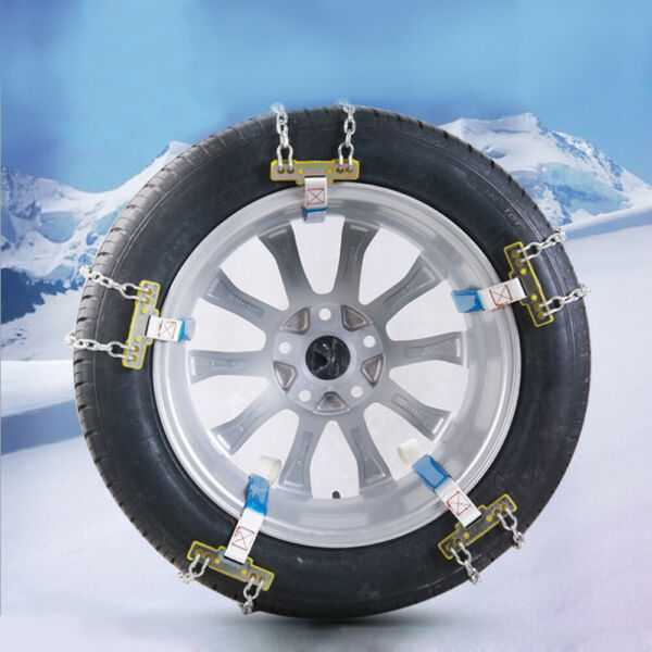 Car Anti-skid Steel Chain Skid Belt Snow Mud Sand Tire Clip-on Chain Accessories