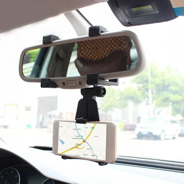 1x Car Accessories Rearview Mirror Mount Stand Holder Cradle For Cell Phone GPS
