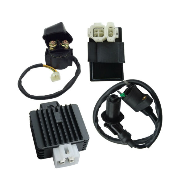 Ignition Coil CDI Solenoid Relay Voltage Regulator for GY6 50ccATV Scooter Moped
