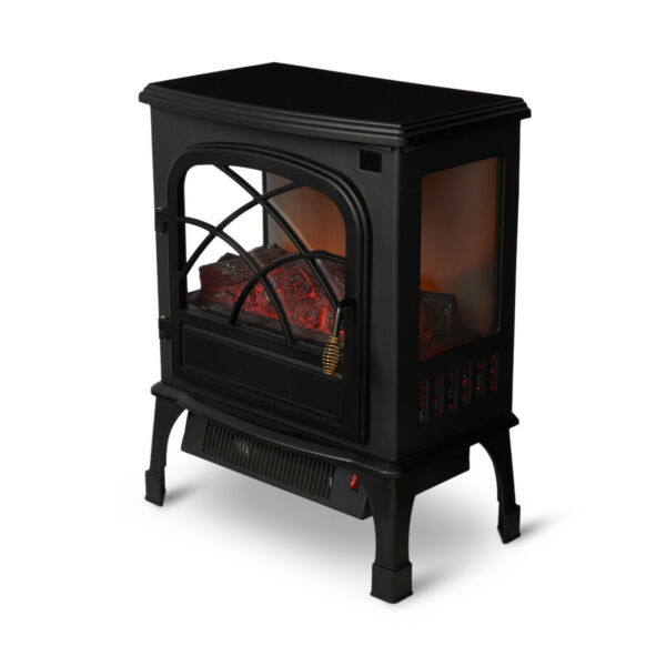 Limina Indoor Electric 1500W Stove Fireplace Infrared Quartz Space Heater Black