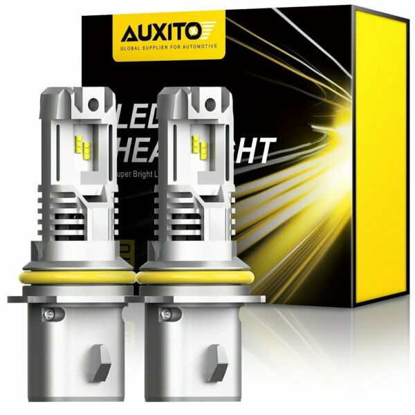 2* 9007 HB5 ZES LED Headlight Bulbs 120W 24000LM High Low Beam White 6500K EOE