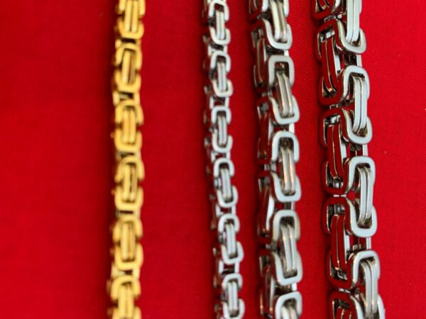 7quot; 50quot; STAINLESS STEEL SILVER 4 6 8MM BYZANTINE TURKISH BOX CHAIN NECKLACE $13.49