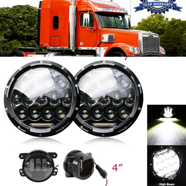 For Freightliner Century Class 7'' LED Projector Headlight HiLo